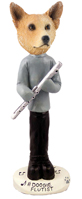 Australian Cattle Dog, RED Flutist Doogie Collectable Figurine