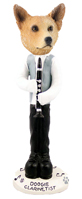 Australian Cattle Dog, RED Clarinetist Doogie Collectable Figurine