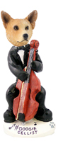 Australian Cattle Dog, RED Cellist Doogie Collectable Figurine