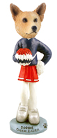 Australian Cattle Dog, RED Cheerleader Doogie Collectable Figurine