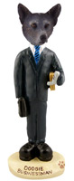 Australian Cattle Blue Dog Businessman Doogie Collectable Figurine