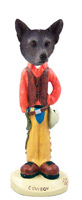 Australian Cattle Blue Dog Cowboy Doogie Collectable Figurine