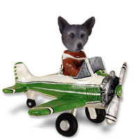 Australian Cattle Blue Dog Airplane Doogie Collectable Figurine