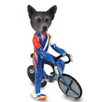 Australian Cattle Blue Dog Bicycle Doogie Collectable Figurine