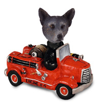 Australian Cattle Blue Dog Fire Engine Doogie Collectable Figurine