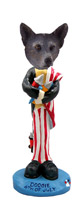 Australian Cattle Blue Dog 4th of July Doogie Collectable Figurine