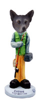 Australian Cattle Blue Dog Fisherman Doogie Collectable Figurine