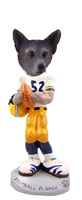 Australian Cattle Blue Dog Football Player Doogie Collectable Figurine