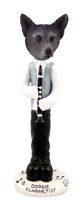 Australian Cattle Blue Dog Clarinetist Doogie Collectable Figurine