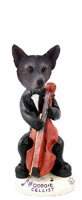 Australian Cattle Blue Dog Cellist Doogie Collectable Figurine