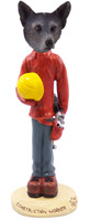 Australian Cattle Blue Dog Construction Worker Doogie Collectable Figurine