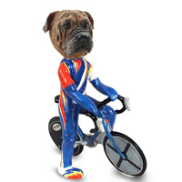 Bull Mastiff Bicycle Doogie Collectable Figurine