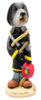 Bearded Collie Fireman Doogie Collectable Figurine