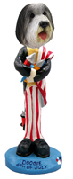 Bearded Collie 4th of July Doogie Collectable Figurine