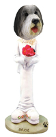 Bearded Collie Bride Doogie Collectable Figurine