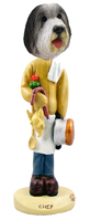 Bearded Collie Chef Doogie Collectable Figurine