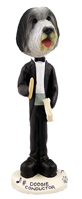 Bearded Collie Conductor Doogie Collectable Figurine