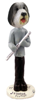 Bearded Collie Flutist Doogie Collectable Figurine