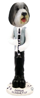 Bearded Collie Clarinetist Doogie Collectable Figurine