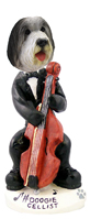 Bearded Collie Cellist Doogie Collectable Figurine