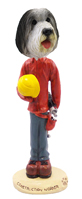 Bearded Collie Construction Worker Doogie Collectable Figurine