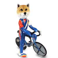 Shiba Inu Bicycle Doogie Collectable Figurine