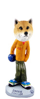 Shiba Inu Bowler Doogie Collectable Figurine