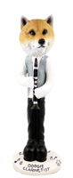 Shiba Inu Clarinetist Doogie Collectable Figurine