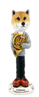 Shiba Inu French Horn Doogie Collectable Figurine