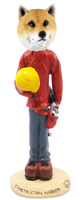 Shiba Inu Construction Worker Doogie Collectable Figurine