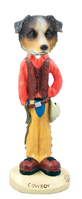 Australian Shepherd, BLUE Cowboy Doogie Collectable Figurine