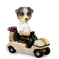 Australian Shepherd, BLUE Golf Cart Doogie Collectable Figurine