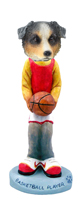 Australian Shepherd, BLUE Basketball Doogie Collectable Figurine