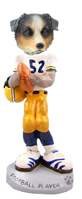 Australian Shepherd, BLUE Football Player Doogie Collectable Figurine