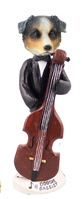 Australian Shepherd, BLUE Bassist Doogie Collectable Figurine