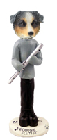 Australian Shepherd, BLUE Flutist Doogie Collectable Figurine