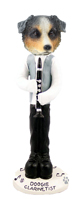 Australian Shepherd, BLUE Clarinetist Doogie Collectable Figurine