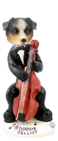 Australian Shepherd, BLUE Cellist Doogie Collectable Figurine