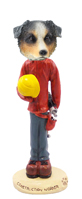 Australian Shepherd, BLUE Construction Worker Doogie Collectable Figurine