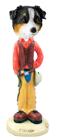 Australian Shepherd Tricolor Cowboy Doogie Collectable Figurine