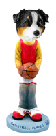 Australian Shepherd Tricolor Basketball Doogie Collectable Figurine