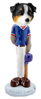 Australian Shepherd Tricolor Baseball Doogie Collectable Figurine
