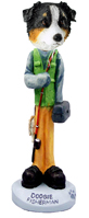 Australian Shepherd Tricolor Fisherman Doogie Collectable Figurine
