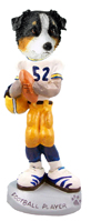 Australian Shepherd Tricolor Football Player Doogie Collectable Figurine