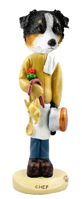 Australian Shepherd Tricolor Chef Doogie Collectable Figurine