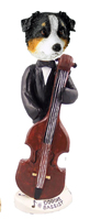 Australian Shepherd Tricolor Bassist Doogie Collectable Figurine