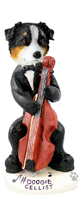 Australian Shepherd Tricolor Cellist Doogie Collectable Figurine