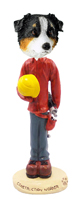 Australian Shepherd Tricolor Construction Worker Doogie Collectable Figurine