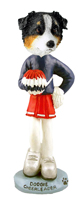 Australian Shepherd Tricolor Cheerleader Doogie Collectable Figurine