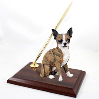 Chihuahua Brindle & White Pen Set